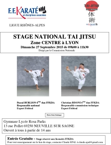stage national TAI JITSU