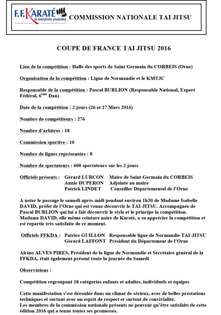 CR coupe de france tai jitsu 2016